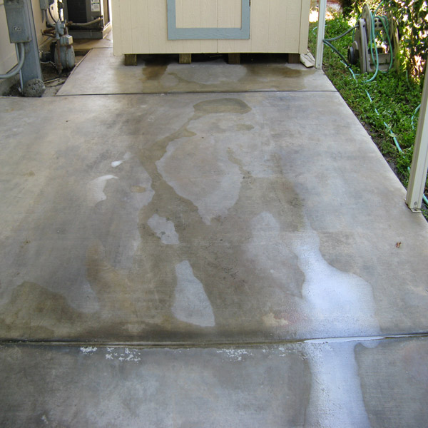 Pressure Washing Oil Stain